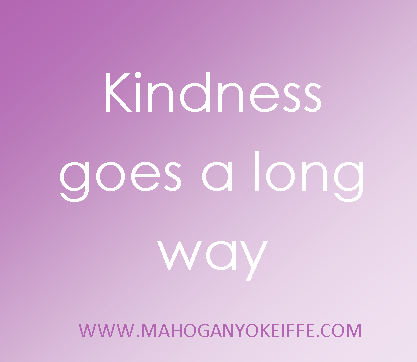 kindness goes along way